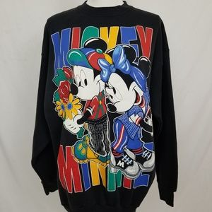 Vintage Mickey & Minnie Disney Crewneck Sweatshirt